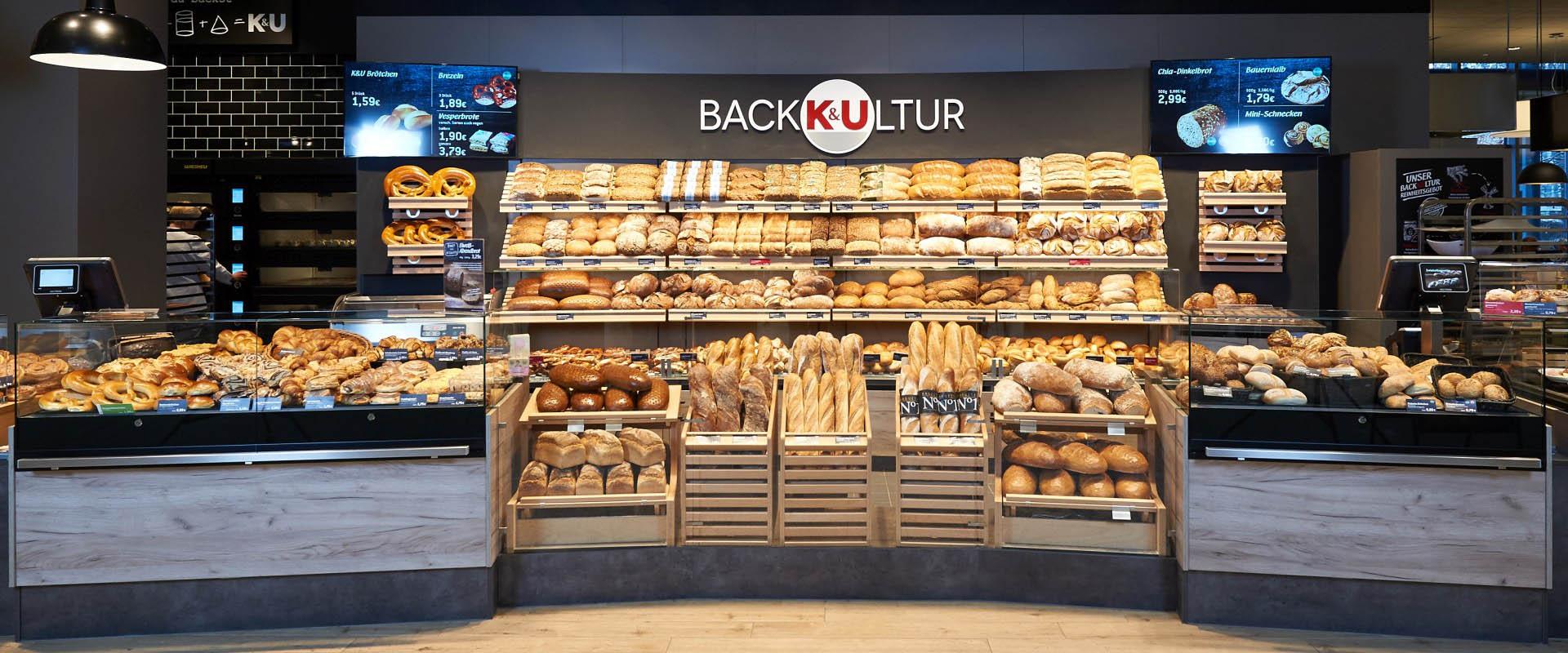 Brote, Teilchen, Snacks - Bäckerei K&U